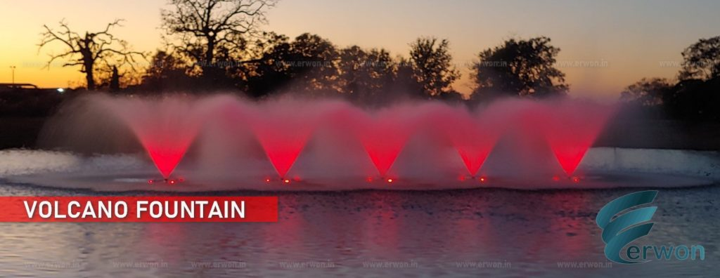 Volcano Fountain - Floating Fountain - Manufacturer - Supplier - Erwon Energy